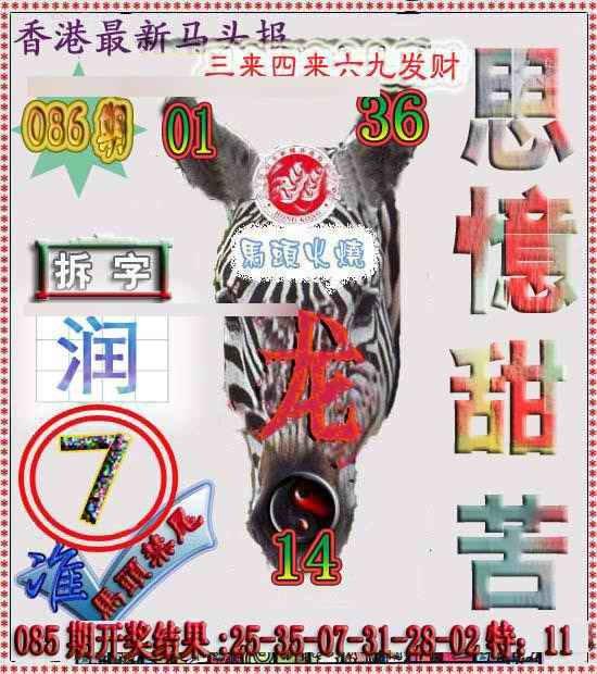 086期香港马头报