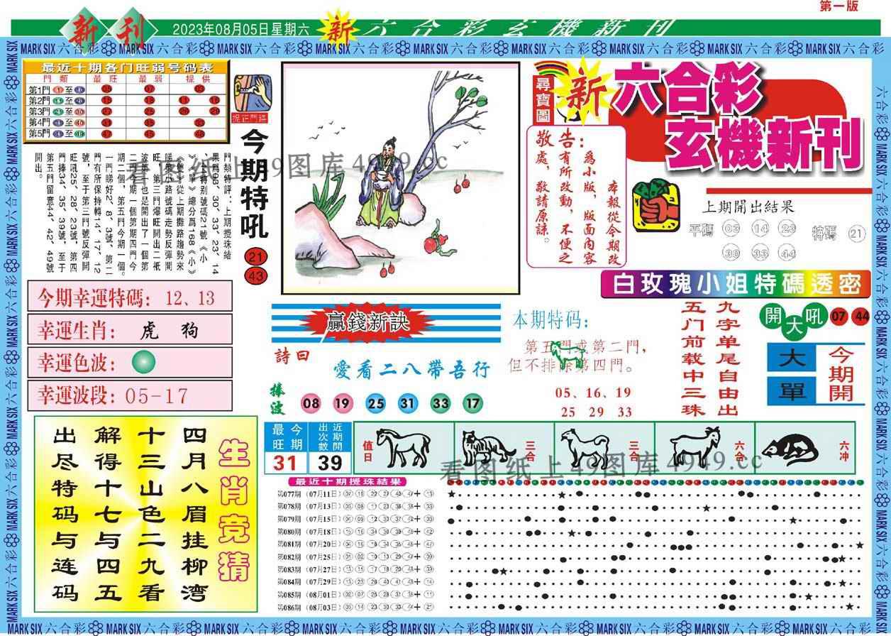 087期新六合彩特码新刊A