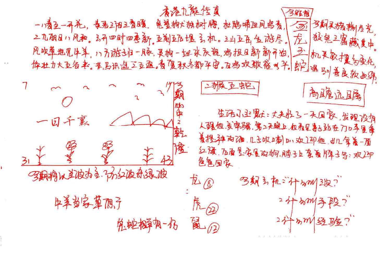 087期九龙传真(手写)