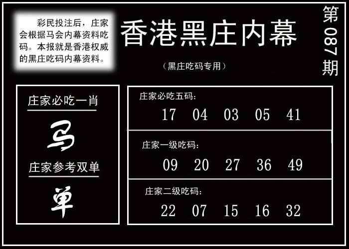 087期香港黑庄内幕