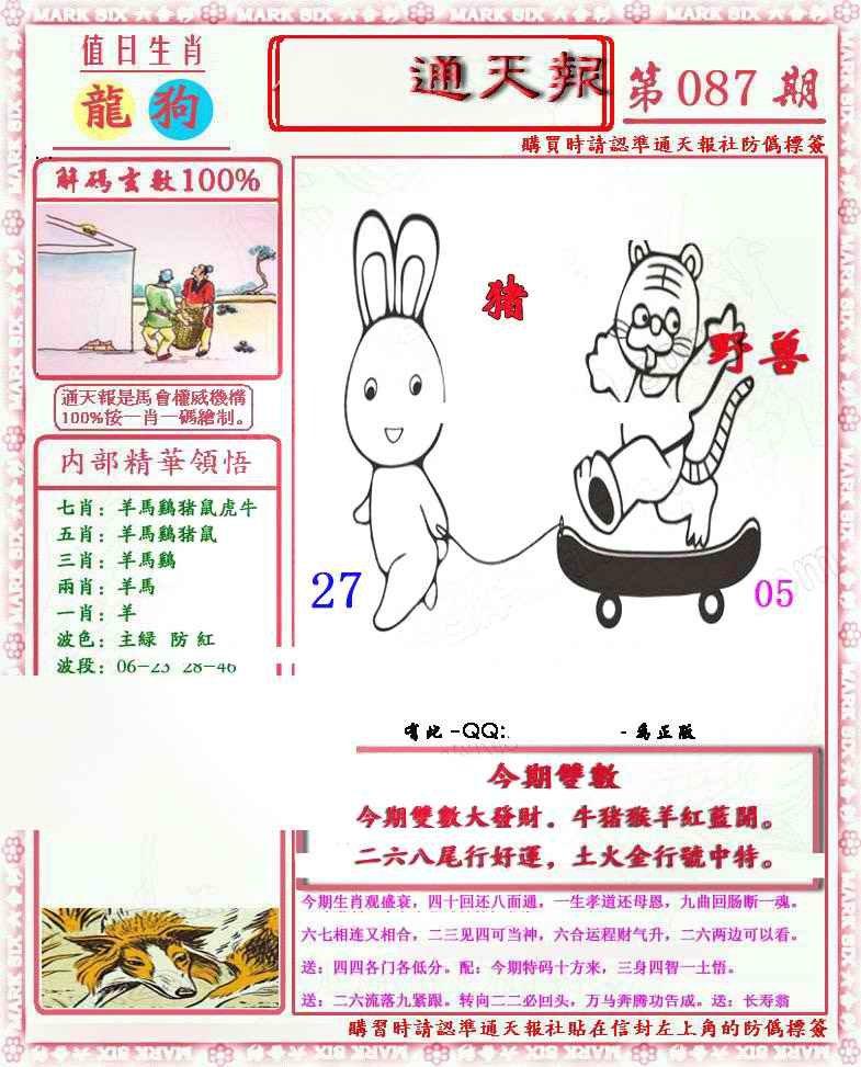 087期马经通天报(另版)