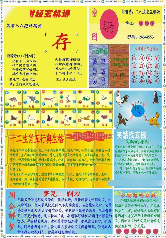 088期马经财经B(新图)