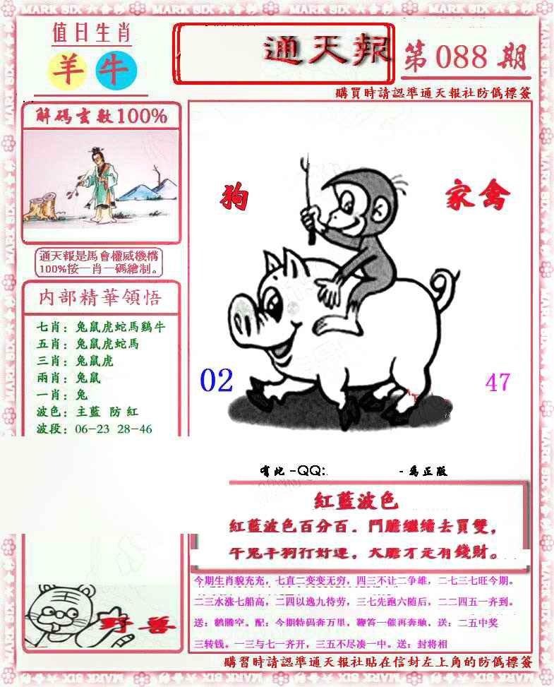 088期马经通天报(另版)